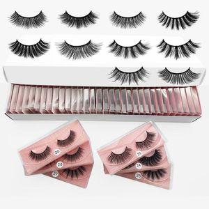 Fashion 10styles 3D Mink Eyelashes Natural False Eyelashes Soft Make Up Lashes Extension Makeup Fake Eye Lashes 3D Series