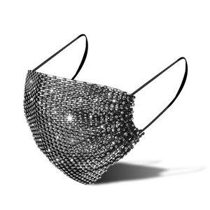 Yüz Ağız Sequins Glitter Maske Toz Rhinestone Kadın Erkek Yetişkin Seks Unisex Moda Yeniden kullanılabilir Bling Parlak Bisiklet Yıkanabilir Yeni DHL Maske