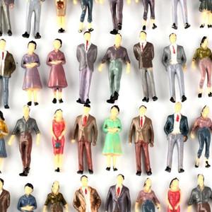 100 Modell Menschen Figuren Passeneger Zug Scenery 01.50 O-Skala Mischfarbe Pose