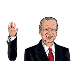 Байден лобового стекла стикер Trump автомобиль наклейка Американского Президентский выборы стеклоочиститель стикер лобовое стекло наклейка для вечеринок CCA12499 30pcs