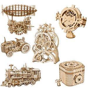 الكبار محرك الميكانيكية لكيت 3D DIY ألعاب خشبية والعتاد مراهقون الأطفال Robotime لغز نموذج روكر بناء هدية PHgvn