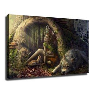 Mágica Floresta Mágica Criatura, imprimir HD Canvas Pintura Home Decor Art / (Unframed / Framed)