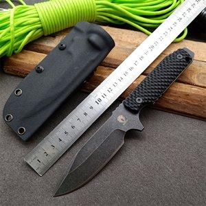 Haute qualité Bailian Strider TAD DUK3 couteau lame fixe GB-D2 lame cratère poignée chasse Camping G10 gaine tactique couteau EDC Kydex