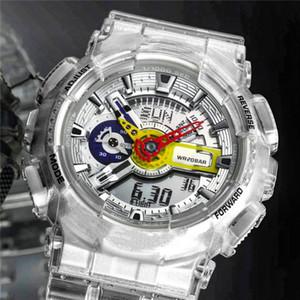 De alta calidad de 110 Transparentes Relojes Digital impermeable al por mayor de todas las funciones del choque los hombres del deporte de Trabajo buen regalo para hombre del reloj del G estilo de reloj