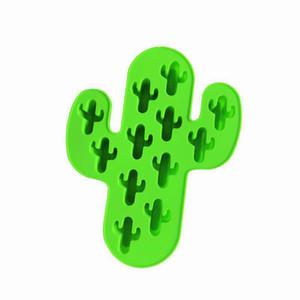 Cactus silicón moldea DIY pastel de chocolate Moldes 3D de grado alimenticio de alta calidad de silicona molde de cocción hechos a mano Herramientas HHA1516