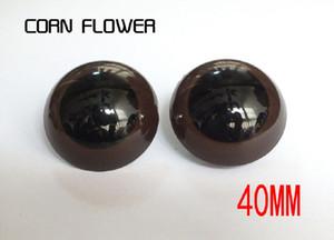 20PCS / LOT 40MM عيون السلامة براون مع قفل غسالات لتيدي بير دمية الحيوان دمية الحرف