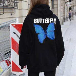 2020 Fashion Winter Herbst Schmetterlings-Buchstabe gedrucktes Frauen Hoodies Paar-Geliebte Sweatershirt Baumwolle Langarm mit Kapuze Tops Wärmen