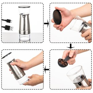 USB Electric Coffee Grinder Bean Grinding Machine Portable Stainless Steel Eco-friendly Corrosion-resistant