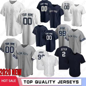 Erkekler Aaron Hakim Derek Jeter 2020 Beyzbol Formalar Stanton Gerrit Cole Gary Sanchez Nakış Gleyber Torres Rivera Bankası Custom Made Soğuk