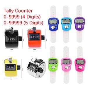 카운터 미니 스티치 마커 및 행 손가락 카운터 LCD 전자 디지털 탈착 봉제 뜨개질 짠 짠 툴 0-9999 / 0-99999