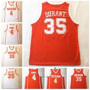 Texas Longhorns 35 Дюрант 4 Mohamed Бамба College Basketball Джерси Wears Рубашка университета прошитой Мужское трикотажных изделий верхнего качества