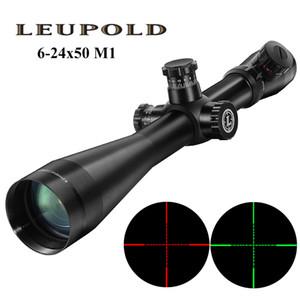 LEUPOLD MARK 4 6-24X50 M1 Тактический прицел Охота Оптика Scope красный и зеленый Dot волокна Reticle Long Eye Relief прицелов