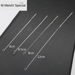S925 стерлингового серебра DiY TRAY серьги Earline аксессуары позолоченные поделки Pearl лоток earchain кисточкой серьги