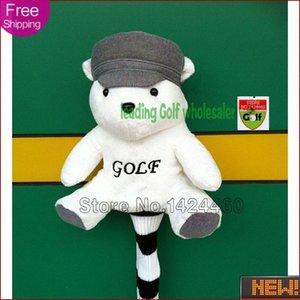Wholesale-2015 New arrival cartoon animal golf club golf head cover, Golf Driver Headcover with bear KNdn#