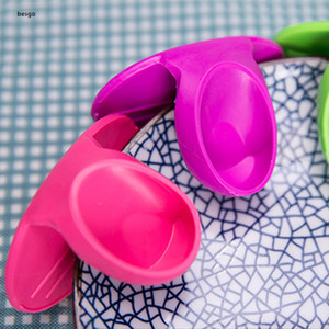 Kitchen Silicone Heat Resistant Clips Insulation Anti-slip Pot Holder Clip Cooking Baking Oven Protect Hands Anti-scalding Clips BH3478 DBC