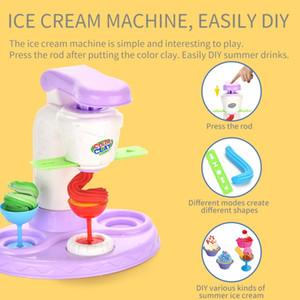 Plasticine play house ice cream toy Plasticine donut pattern pressing mold Simulation ice cream maker clay ice cream toy Kid Gift
