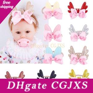 Infant 10pcs / Lot di Natale fascia del bambino Deer Antlers dei capelli della fascia di danza Ballet 6 colori