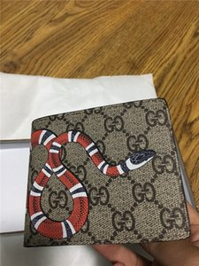 2018 hommes de la marque Hot GG Serpent court portefeuille Nouvelle bourse patchwork mâle mode classique avec porte-cartes de poche monnaie avec coffret cadeau
