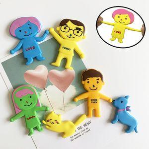 6pcs / lot Neuheit-Vent Familie Autismus Relax Puppe Squishy Gag Spielzeug Familie Papa Mama Sohn Tochter Hund Katze