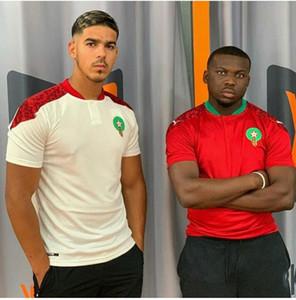 2021 neue Marokko ZIYECH Fußball-Trikots 2020 21 Home Away Benatia BOUTAIB Boussoufa Belhanda BOUFAL Hakimi MAZRAOUI Fußballhemd