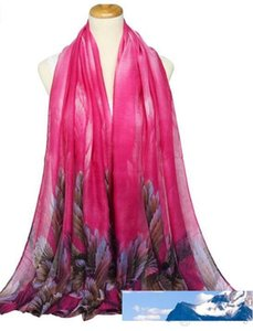 New brand scarf women's long shawl autumn and winter voile leaves scarf wraps designer scarf for women 180*100cm 86