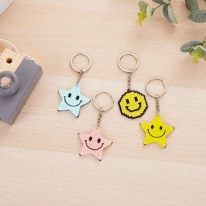 Акриловые Smiley Face Композитный Акриловая ключ Smiley композитный материал Face Chain Chain. Основные материалы Bpigm