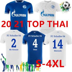 Большой размер 4XL 2020 2021 Schalke 04 футбольные трикотажные изделия домой выезд CamiSeta de Futbol Serdar Ozan Harit Raman Bentaleb MC Kennie футбол футбол