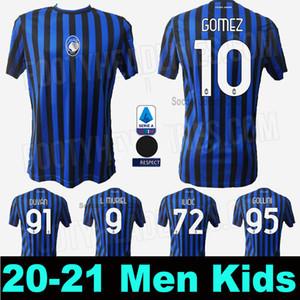 Fan Giocatore 20 21 Atalanta BC maglie calcio DUVAN 2020 2021 Atalanta Ilicic 20 21 Supporter Jersey DE Roon Football Shirt MURIEL GOMEZ