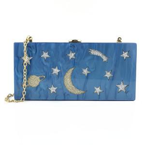 Designer-Mode Schöne Stern-Mond-Muster-Damebeutel, eine geschultert Damebeutel- Abendkleid-Partei