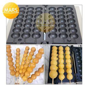 الوجبات الخفيفة آلة سيخ الهراء صانع الكهربائية تاكوياكي آلة كرات الخبز عموم، السكر المغلفة الزعرور على شكل Wafle معدات الخبز