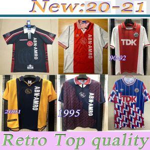 1990 01 1995 Jersey de football rétro AJAX 94 96 Rijkaard Kluivert Litmanen Seedorf Davids Davids Howars 04 05 Football 1989 Chemise Babel 97 98 99 2000