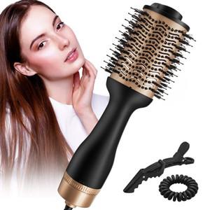 One-Step Hair Dryer Volumizer Hot Air Brush Negative Ion Salon Hair Styler Curler Straightener Brush Blow Spin Brush for Women