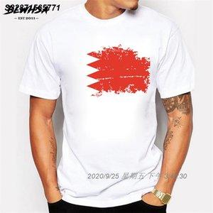 Drapeau du Bahrain T-shirt homme col rond manches courtes en coton Nostalgie T-shirts pour les hommes Brand Design Bahrain T-shirt 1211269