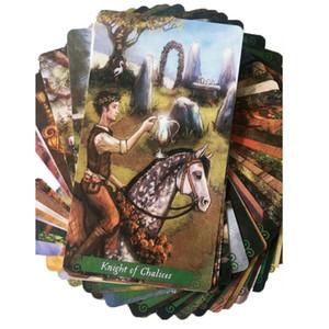 Tarot El Tarot Card Juego verde para Junta de cartas de juego cartas cubierta de la bruja de todos los partidos Entretenimiento Juegos inglés Familia Regalo 78pcs WstCM
