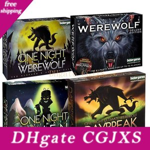 النسخة الإنجليزية بطاقات لعبة ليلة واحدة في نهاية المطاف بالذئب الغريبة مجلس الألعاب لعبة ذئاب ضارية التعليمية