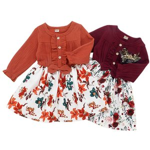 Girls Wear 2020 New Fashion Tops Flower Skirts Girls New Style Dresses Style 2 Pieces Girls Wear Children Clothing