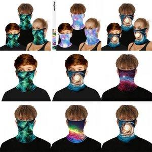 Star Sky Face Cover маски респирабельной Звездная Магия шарфы Мода Shields Тюрбан шея Гетры Велоспорт многоразовых по уходу за детьми Взрослыми 8 5md C2