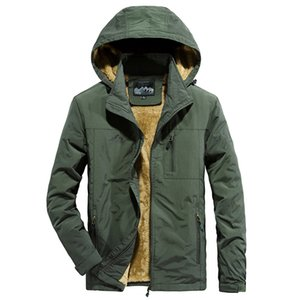 Tamanho do velo Parkas Nova marca de alta qualidade Male Coats Plus homens Inverno Jakcet Thicken Quente Outwear Men Outdoor, GA516