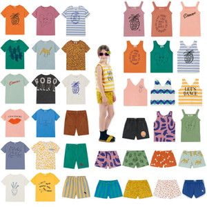Kids Clothes Set 2020 Spring Summer BC Boys Girls Cotton Top Tee T Shirt Baby Dance Romance Tank Shorts Children Short Pants 0927