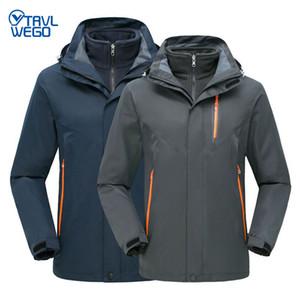 눈 트레킹 의류 등산 TRVLWEGO 겨울 스키 재킷 남성 야외 열 방수 스노우 보드 하이킹 캠핑 재킷