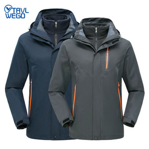 TRVLWEGO Winter Ski Jackets Men Outdoor Thermal Waterproof Snowboard Hiking Camping Jackets Climbing Snow Trekking Clothes
