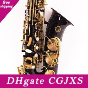 Nuovo arrivo Suzuki Alto Saxophone Strumenti Musicali nero ottone nichelato Oro Eb Tune Sassofono Con Accessori Bocchino