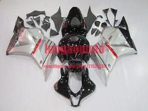 Инъекции CBR600RR F5 обтекатели серебро черный HONDA CBR600 F5 2009 2010 2011 2012 CBR600 RR CBR 600 RR 09 10 11 12 обтекателя кузова + бак