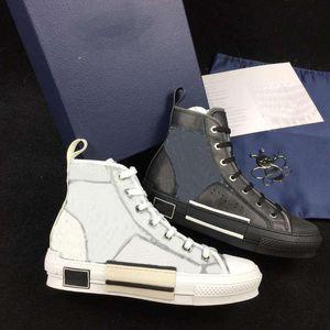 Mulheres Homens Casual Shoes Sneakers Oblique High Top Sneakers Mulheres Impresso vestido de festa sapatas de lona Des Chaussures 35-45