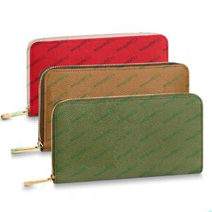 المحافظ الجلدية المحفظة المحفظة أزياء الرجال النساء الفاصل حقيبة كلاسيكي غطاء حقيبة مع غبار حقيبة الهاتف أكياس حامل البطاقة حقائب المال