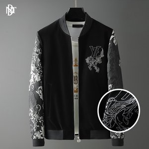 Casual Jacket Jacket 2020 Autumn New European-Style Court Style Lettered Pattern Street Fashion Brand Mens Cross-Border