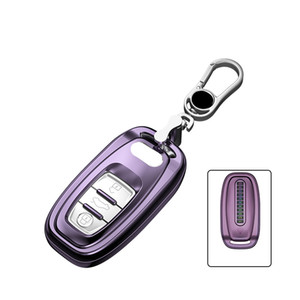 Car TPU Remote Smart Key Cover Fob Case Key Chain For Audi A3 A4 A4L A5 A6 A6L A7 A8L Q3 Q5 Protect Shell Car Styling Cover Case
