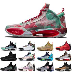 2020 Heritage 34 hommes Jumpman chaussures de basket-ball bleu Void Zoo Noah Bayou Black Boys Cat nfrared 23 ASG formateurs hommes chaussures de sport