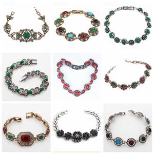 32 Diferente de ouro Estilo Tibet Branco Cor Bohemia étnico por Mulheres Feminino Vintage pulseiras atacado