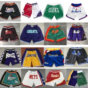 balle pantalon guerrier Lakers poche magique 76 dragon short brodé pantalon de basket-ball balle pantalon